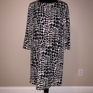 Leopard Print Pocket Front Dress